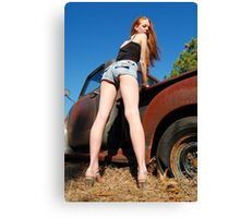 Legs and rust Canvas Print