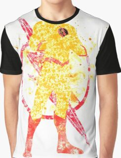 Supervillian Splatter Art Graphic T-Shirt