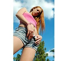 A sunny day with a red head Photographic Print