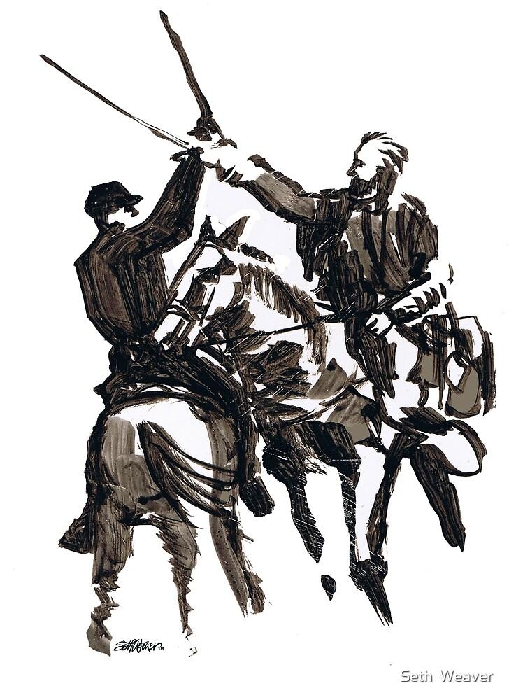 Dueling Sabres by Seth  Weaver
