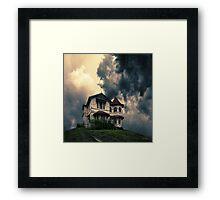 Storm on the horizon Framed Print