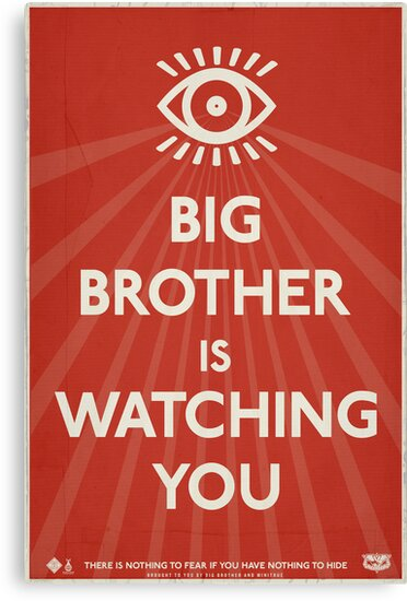 Big Brother Is Watching You Propaganda by LibertyManiacs