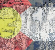 colorado flag textured wall Sticker