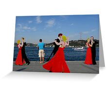 River Dance. Greeting Card