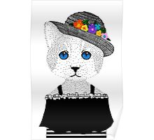 The Staring Cat & The Straw Hat Poster