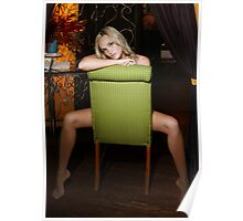 Jade in Green Chair Poster
