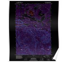 USGS Topo Map Washington State WA Lake Lawrence 241881 1990 24000 Inverted Poster