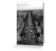 France - Paris - Champs Elysées Greeting Card