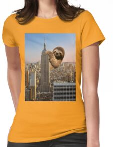 The Empire Sloth Building Womens Fitted T-Shirt