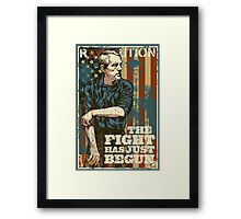 The Fight Has Just Begun Framed Print