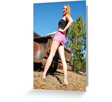 Legs and rust Greeting Card