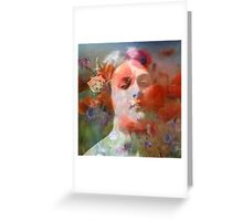 Red Hot Chili Poppies Greeting Card