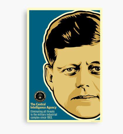 JFK CIA Canvas Print
