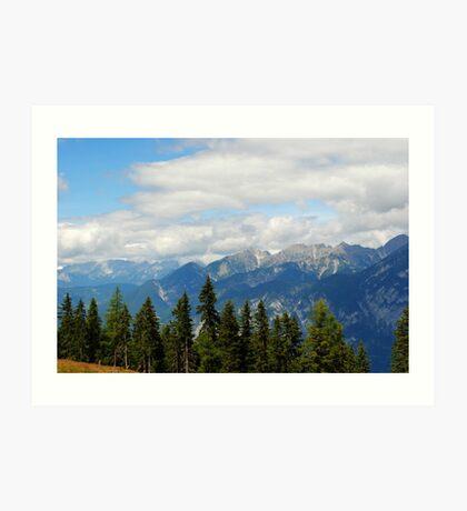 Mountains in Austria Art Print