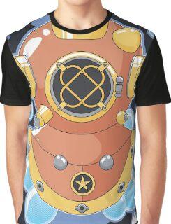 Vector Diving Helmet Graphic T-Shirt