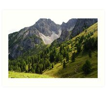 Austria Mountains Art Print