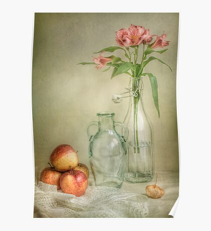 Apples and lillies Poster