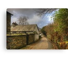 A Village Lane..The Other View Canvas Print