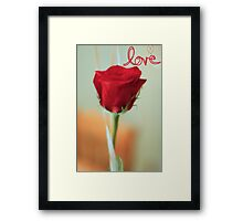 My Love Is Like . . . Framed Print