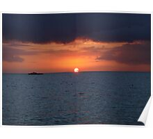 Jamaica-bloody bay sunset Poster