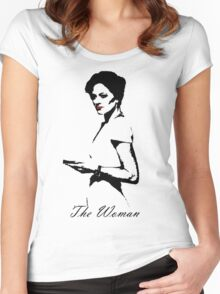 The Woman Women's Fitted Scoop T-Shirt