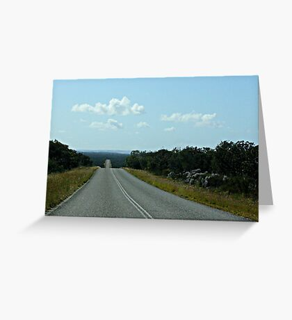 It's a  long stretch between towns in Western Australia. Greeting Card