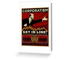 Corporatism Greeting Card