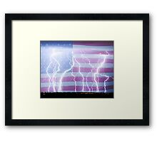 America the Powerful Framed Print