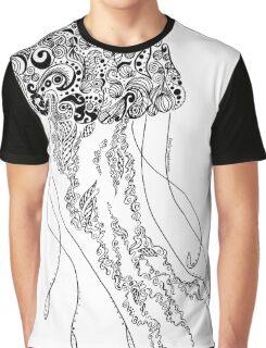 Zentangle Fine liner Jellyfish Graphic T-Shirt