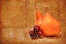Pears & Cherries by Eve Parry