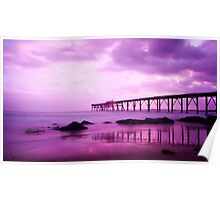 Pink Sunrise - Catherine Hill Bay Poster