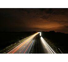 Long Exposure Highway at Night Photographic Print