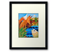 THE FOX AND THE FISH Framed Print