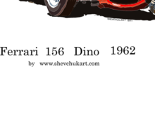 Ferrari Dino 156 1962  Sticker