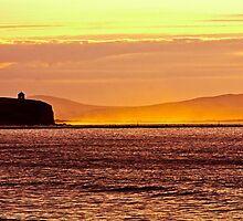 summer sunset over looking Castlerock Beach by paul35