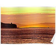summer sunset over looking Castlerock Beach Poster