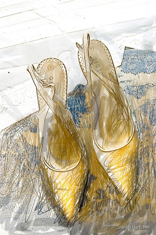 Gold Sling Backs by Sarah Butcher