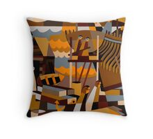 BATTERY POINT SHIP BUILDERS 1835 Throw Pillow