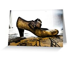 Suede Mary Janes and Toile Greeting Card