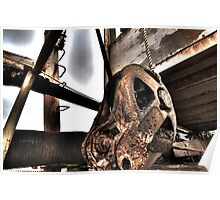 HDR Rusty Pulley Poster