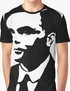 Black and White Turing Graphic T-Shirt