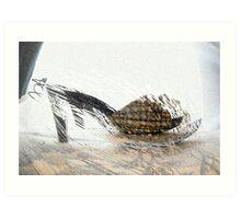 Picnic Sandals Art Print