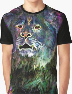 The Glowing Lion Graphic T-Shirt