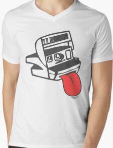 Camera Shy Mens V-Neck T-Shirt