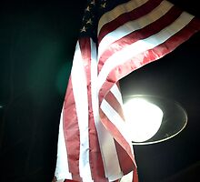 American Flag in the Night Sky by timemanuele