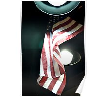 American Flag in the Night Sky Poster