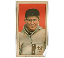 Benjamin K Edwards Collection Larry Doyle New York Giants baseball card portrait 003 Poster
