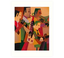 DEXTER GORDON WITH THE BOPLAND BOYS 1947 Art Print