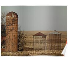 Silo and Corn Cribs Poster