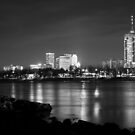 Tulsa in Black and White - University Tower View by Gregory Ballos | gregoryballosphoto.com